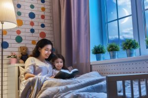 reading bedtime stories
